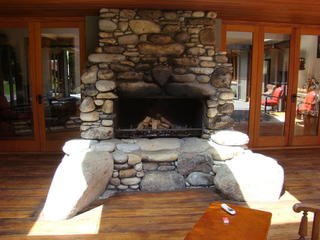 Stone Fireplace for Outdoor Living